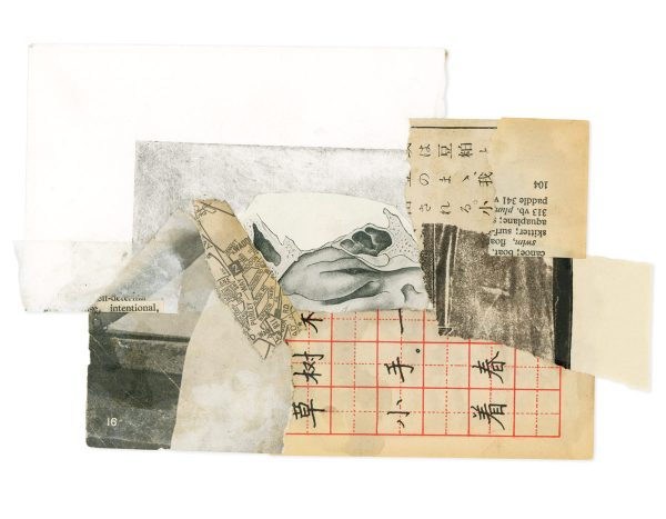Collage of vintage ephemera by INgrid K Brooker