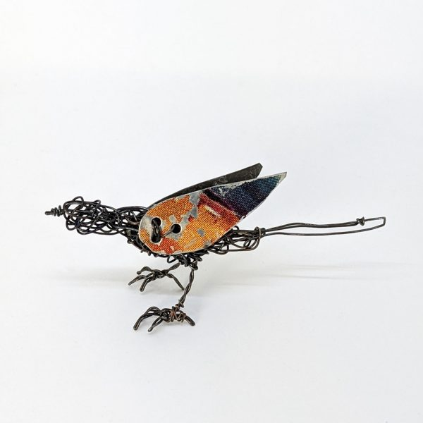 Wire bird sculpture by Ingrid K Brooker